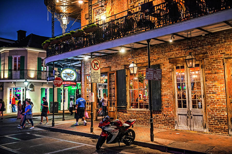 New Orleans Bourbon Street Nightlife by Toby McGuire
