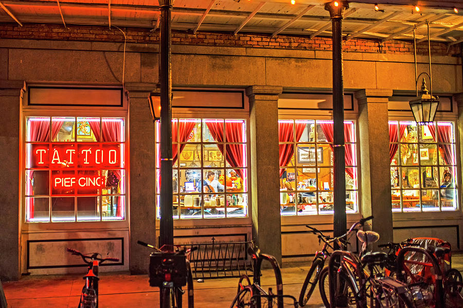 New Orleans Frenchmen Street Tattoo Parlor French Quarter by Toby McGuire