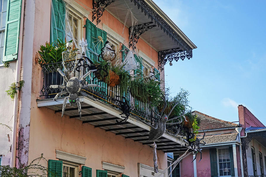 New Orleans Halloween Balcony New Orleans Louisiana by Toby McGuire