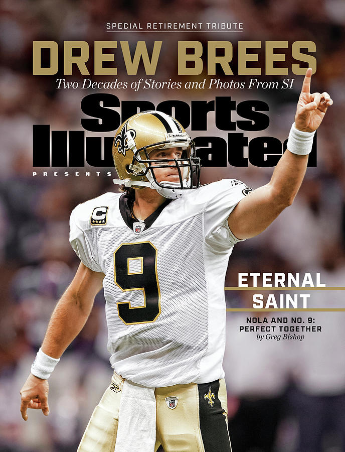 New Orleans Saints Drew Brees, Special Retirement Commemorative Issue Photograph by Sports Illustrated