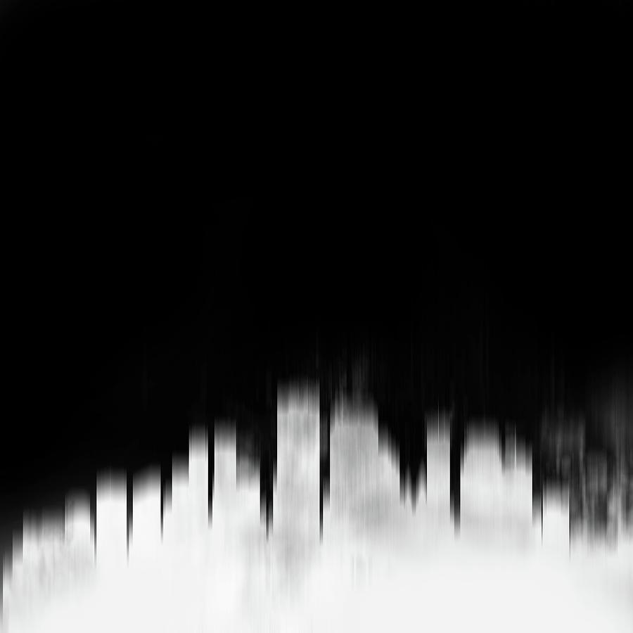 New Orleans Digital Art - New Orleans White City Skyline by Naxart Studio