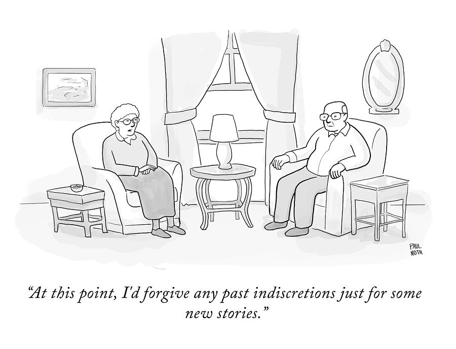 New Stories Drawing by Paul Noth