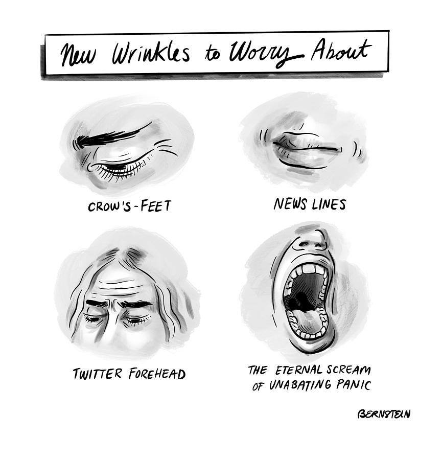 New Wrinkles Drawing by Emily Bernstein