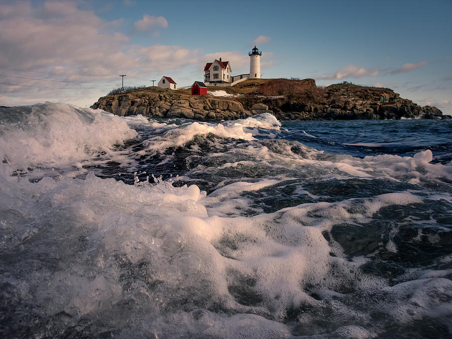 New Year's Bubbles At Nubble by Thomas Gaitley