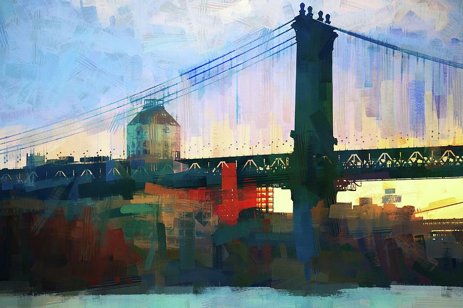 New York Bridge Abstract by Alice Gipson