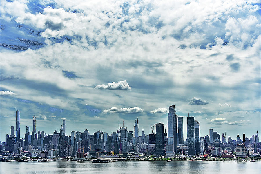 New York City In Pastel Morning Blues Photograph