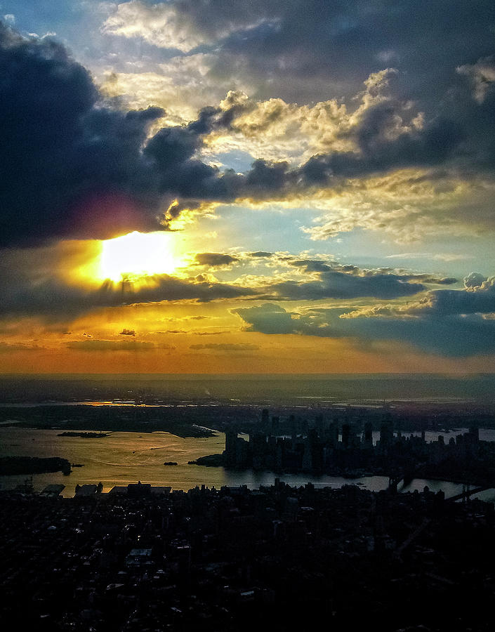 New York City In Silhouette 2009 Photograph