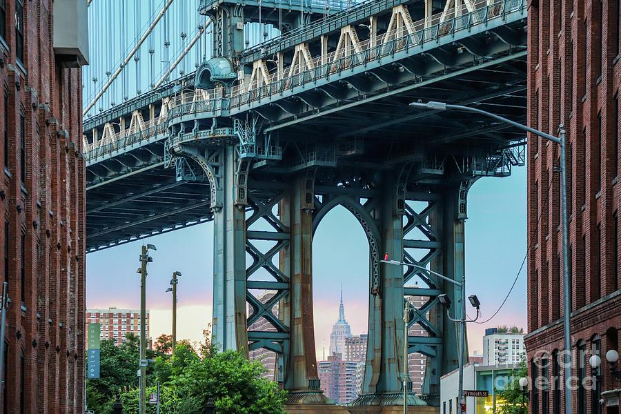 Dumbo Photograph - New York City, Manhattan Bridge, DUMBO by Eddie Hernandez