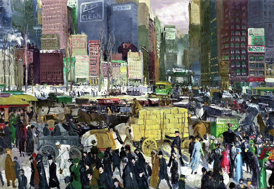George Wesley Bellows Painting - New York - Digital Remastered Edition by George Wesley Bellows