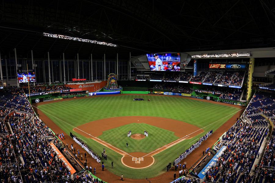 New York Mets v Miami Marlins Photograph by Rob Foldy