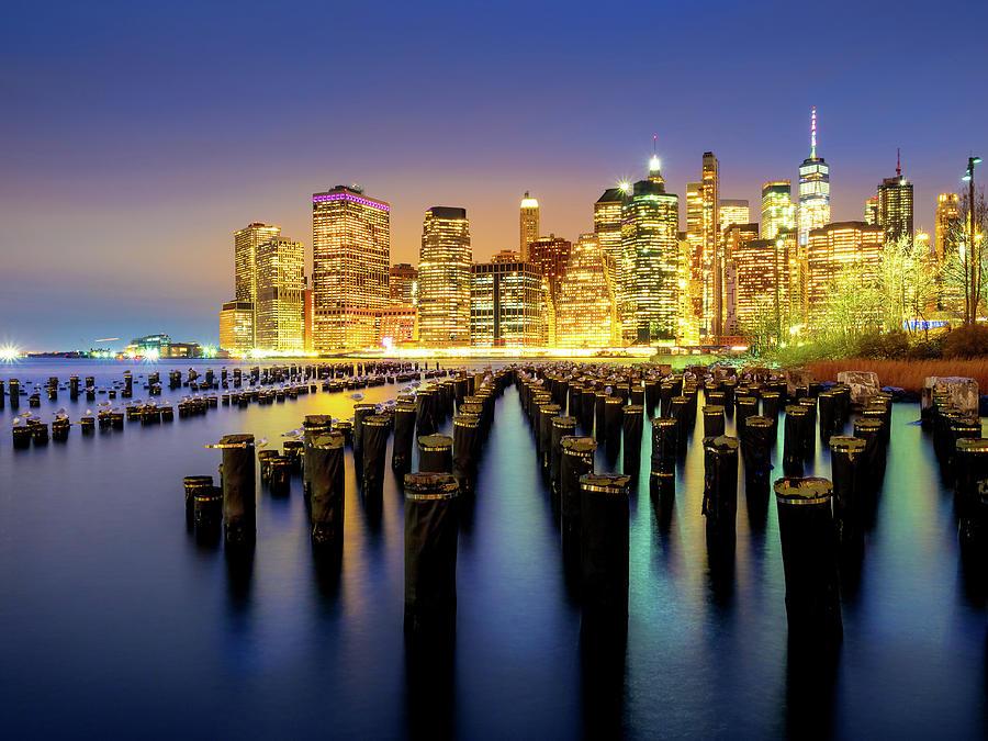 New York Night Cityscape Photograph