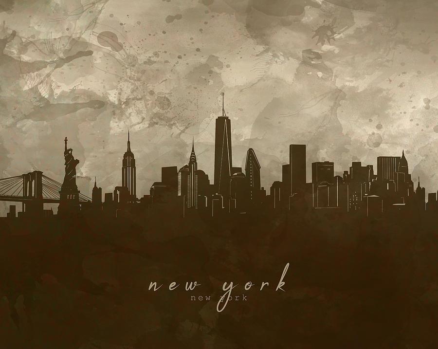 New York Skyline Panorama 4 Digital Art