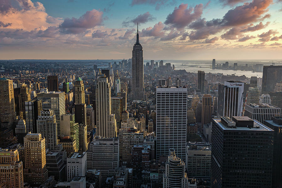 New York Sunset by Dave Bowman