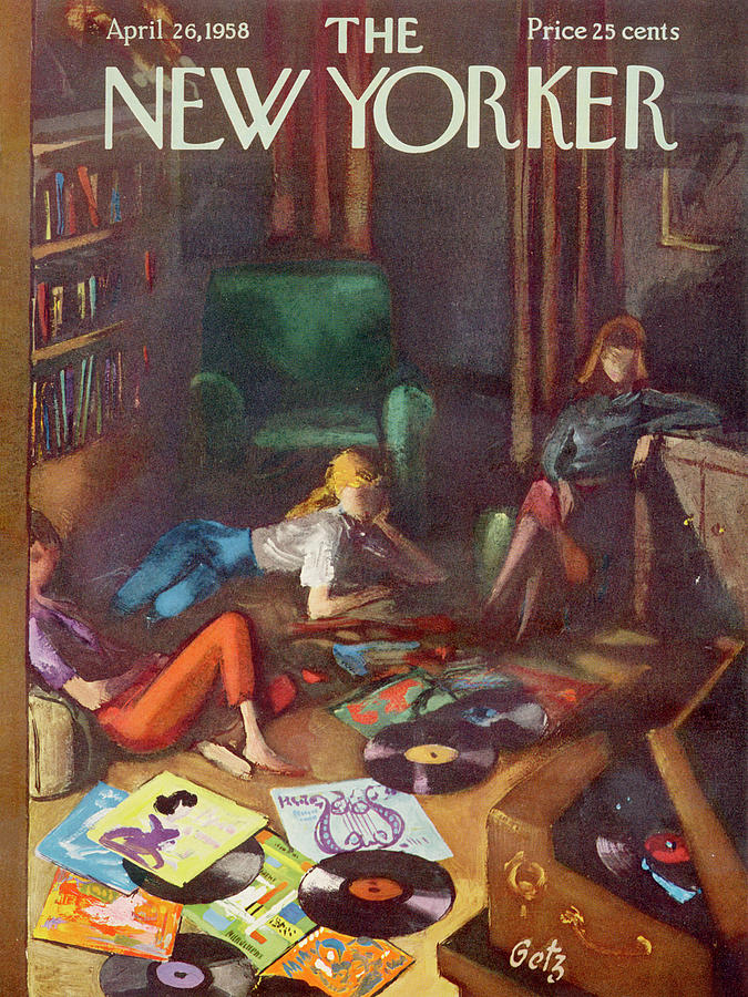New Yorker April 26,1958 Painting by Arthur Getz