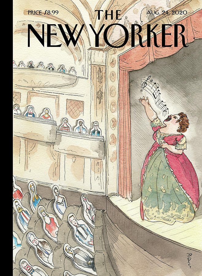 New Yorker August 24, 2020 Painting by Barry Blitt