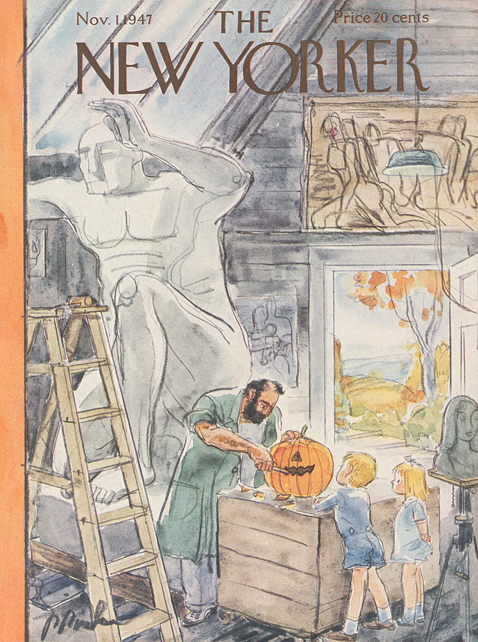 New Yorker Cover November 1, 1947 Painting by Perry Barlow