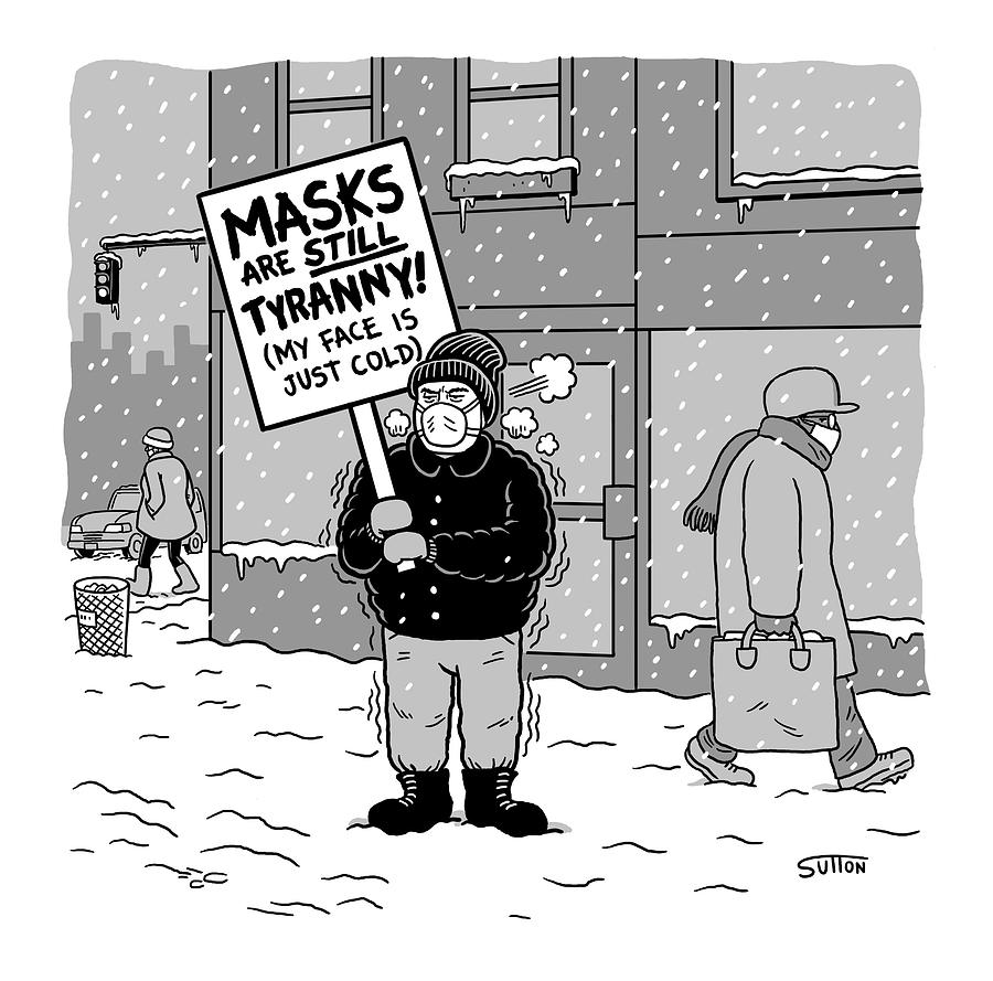 New Yorker February 17, 2021 Drawing by Ward Sutton