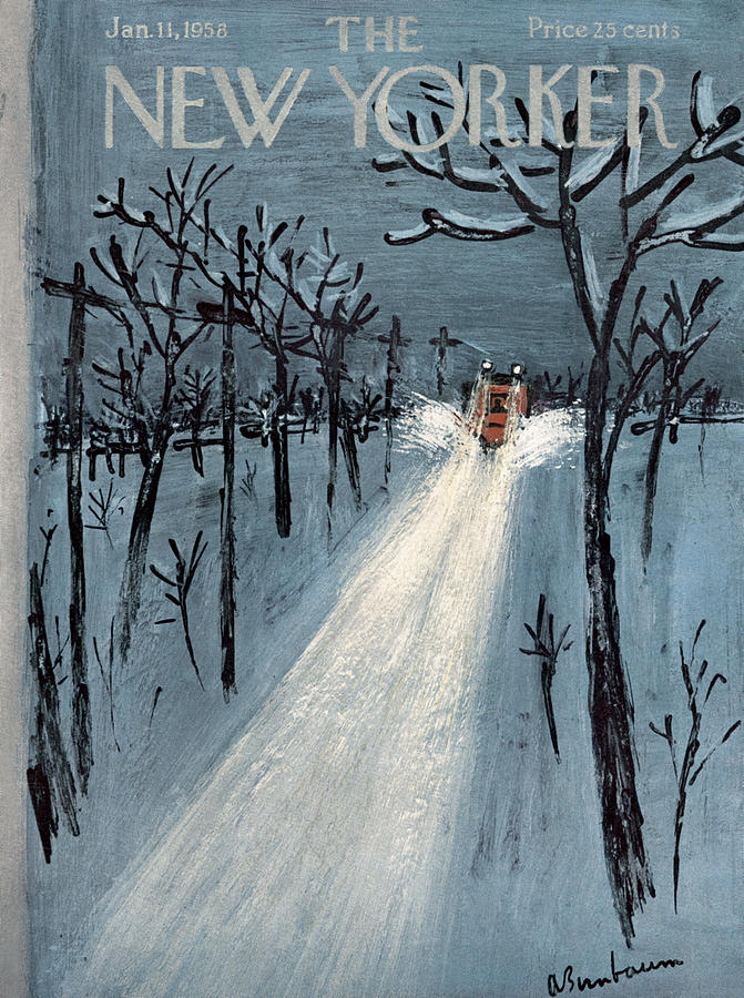 New Yorker January 11th, 1958 Painting by Abe Birnbaum