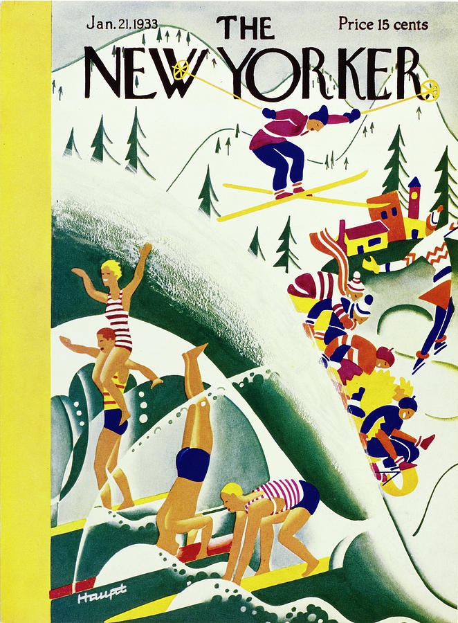 New Yorker January 21, 1933 Painting by Theodore G Haupt