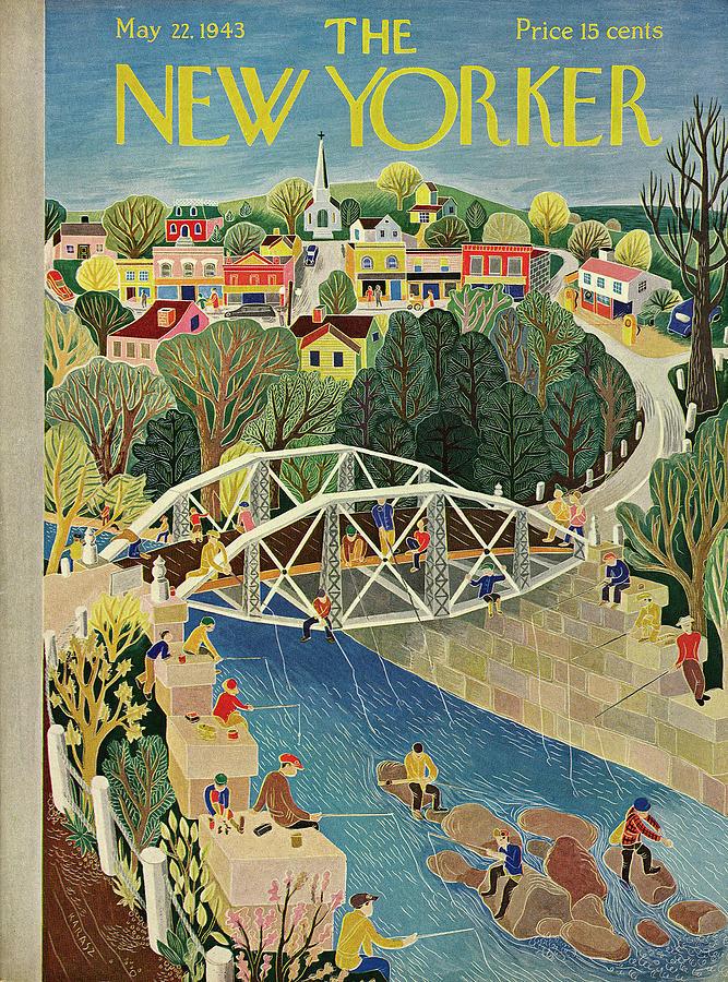 New Yorker May 22, 1943 Painting by Ilonka Karasz