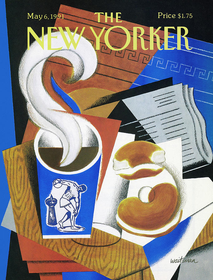 New Yorker May 6, 1991 Painting by William Waitzman