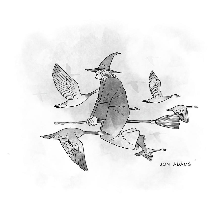 New Yorker October 1, 2021 Drawing by Jon Adams