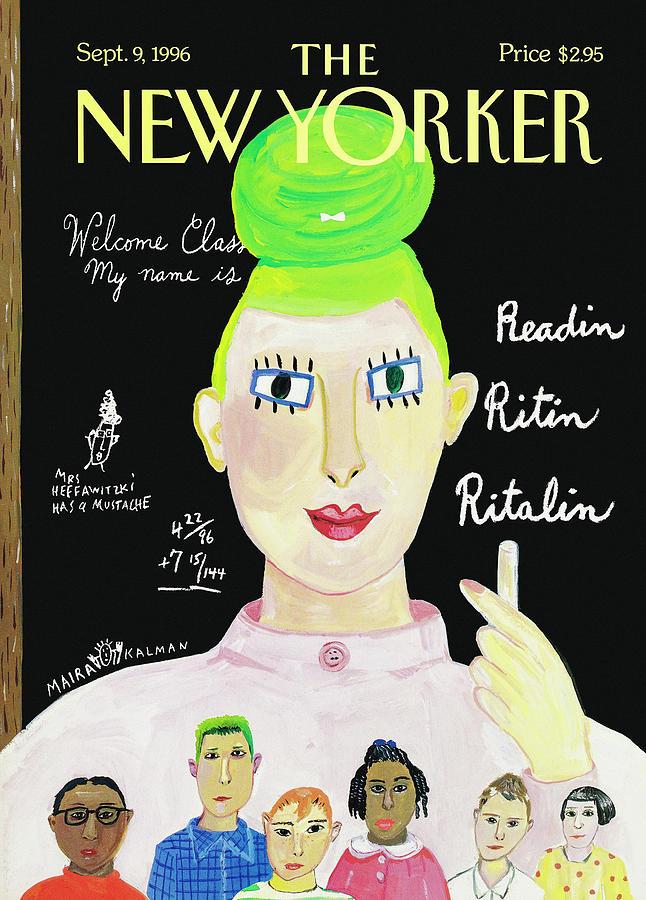 New Yorker September 9, 1996 Painting by Maira Kalman