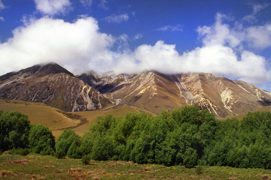 New Zealand Mountains by Jerry Griffin