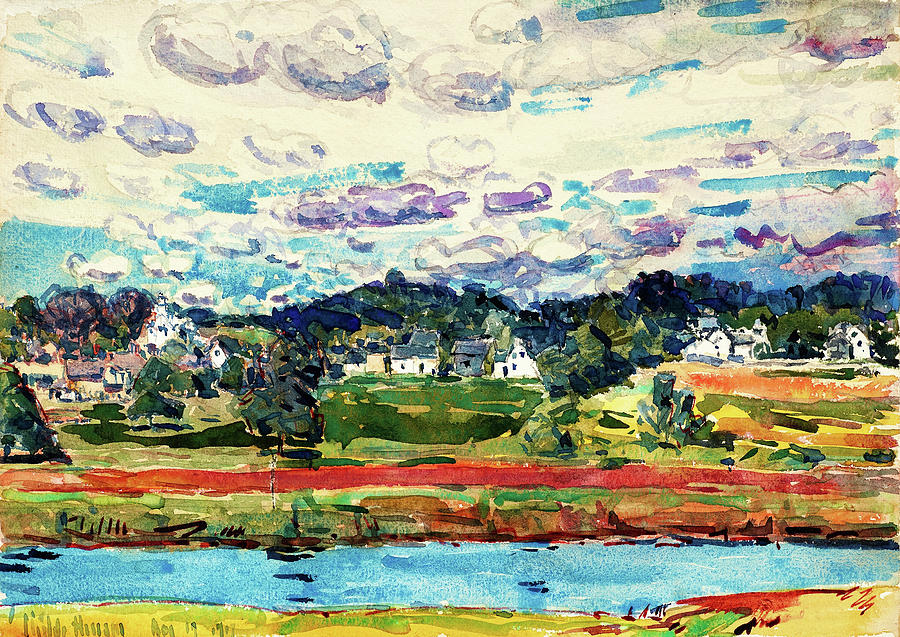 Newfield Painting - Newfields, New Hampshire - Digital Remastered Edition by Frederick Childe Hassam