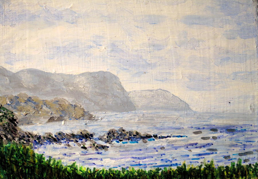 Newfoundland - South From Rocky Harbour Painting