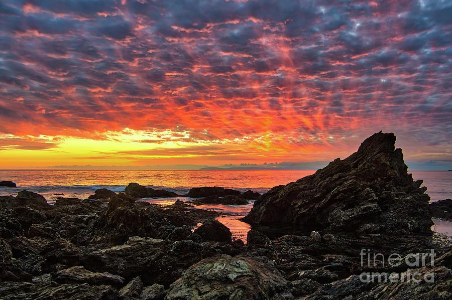 Newport Beach Sky On Fire Photograph