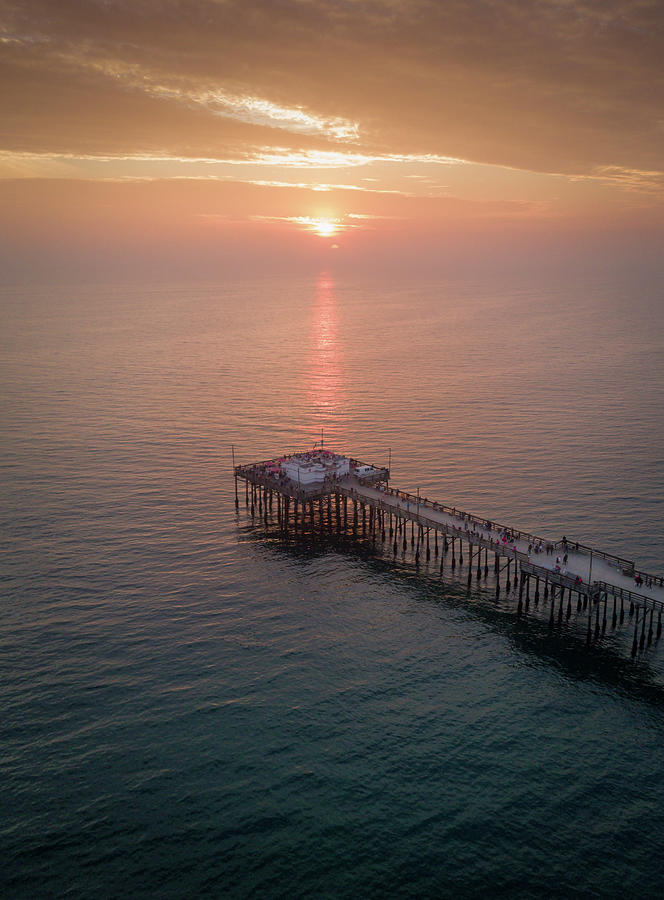 Ocean Photograph - Newport Pier by Seascaping Photography