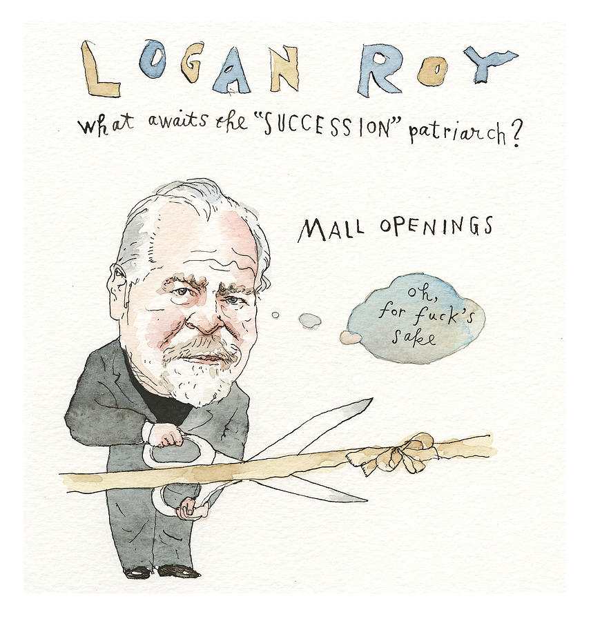 Next Season, On Succession Painting by Barry Blitt