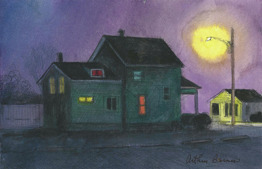 Next To The Diner 2021 Painting