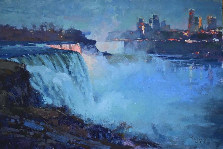 Niagara Falls Nocturne by Ylli Haruni