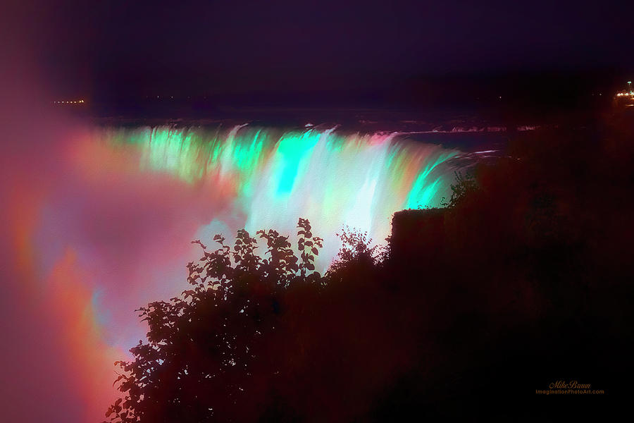 Niagara Photograph - Niagara Night by Mike Braun