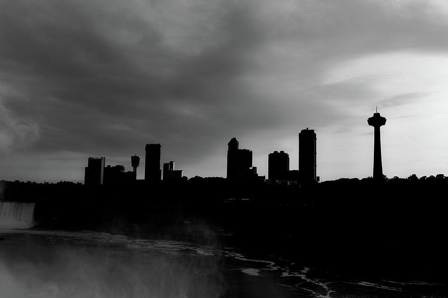 Niagara Skyline Bw Photograph