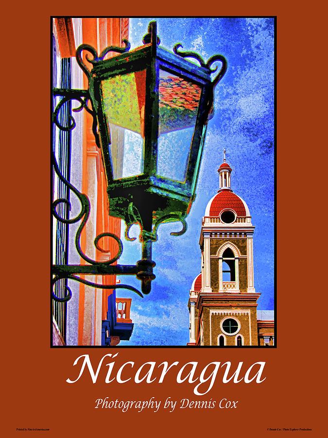 Nicaragua Travel Poster Photograph