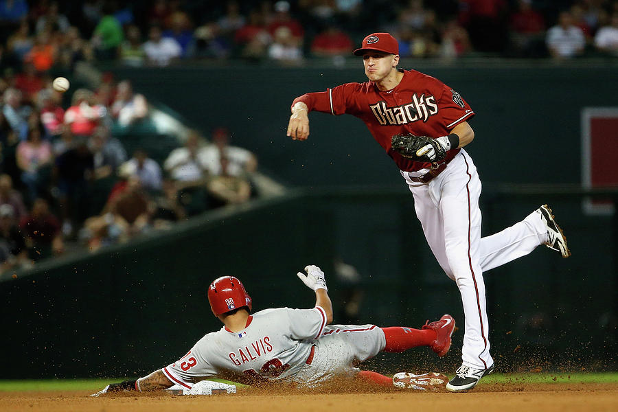 Nick Ahmed and Freddy Galvis Photograph by Christian Petersen