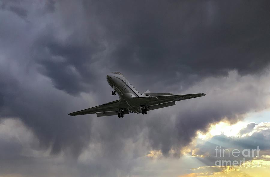 Nick Of Time - Final Approach - Charleston Executive Airport Photograph