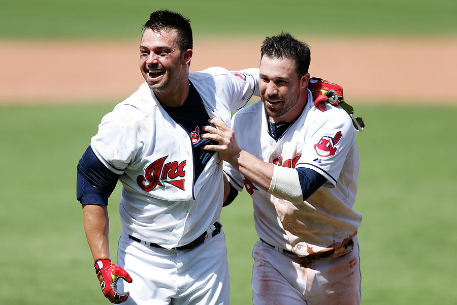Nick Swisher And Jason Kipnis Photograph by Joe Robbins