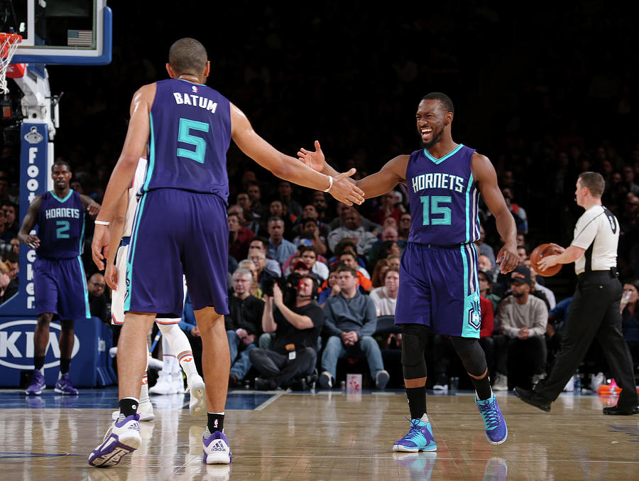 Nicolas Batum and Kemba Walker Photograph by Nathaniel S. Butler
