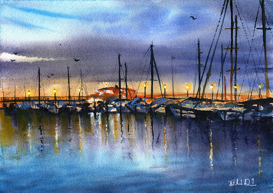 Night At The Pier by Dora Hathazi Mendes