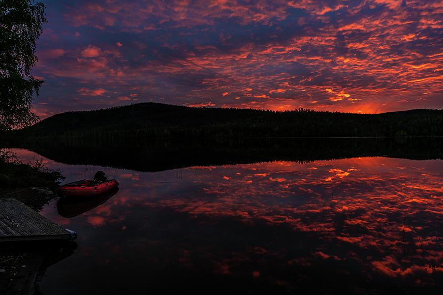 Lake Photograph - Night By The Lake by Dan Vidal