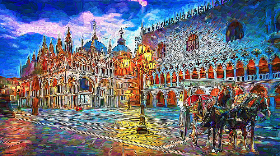 Night Come In Old Europe Painting