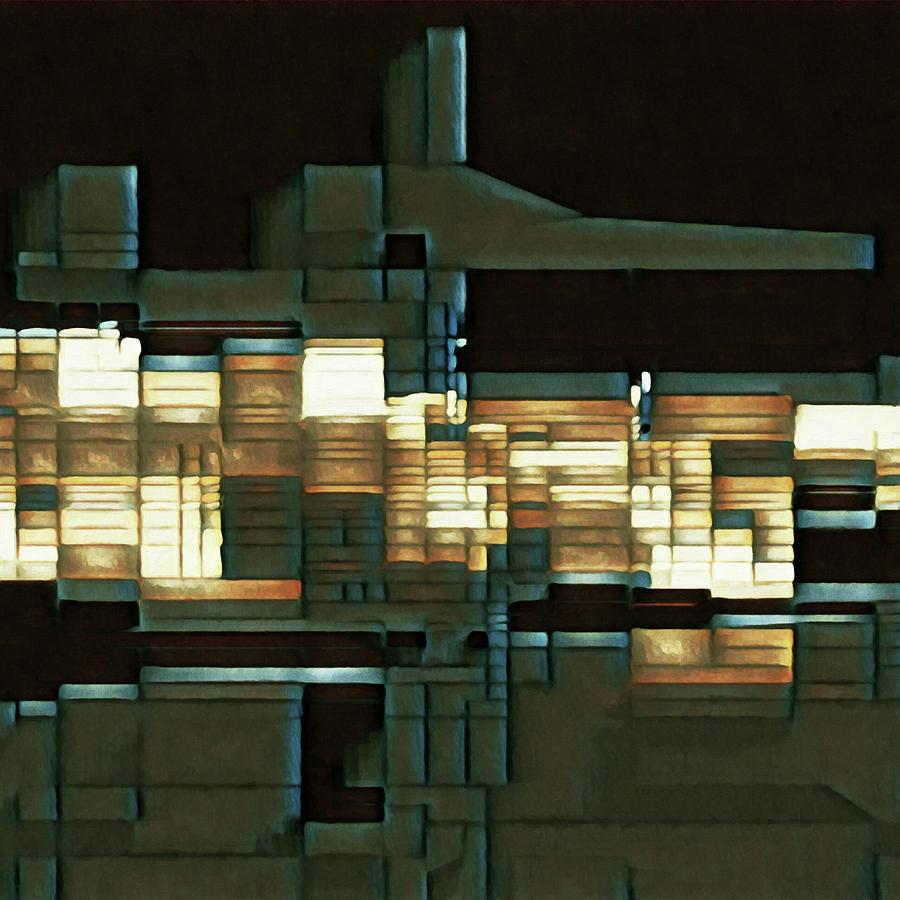 Night Crane Digital Art by David Hansen