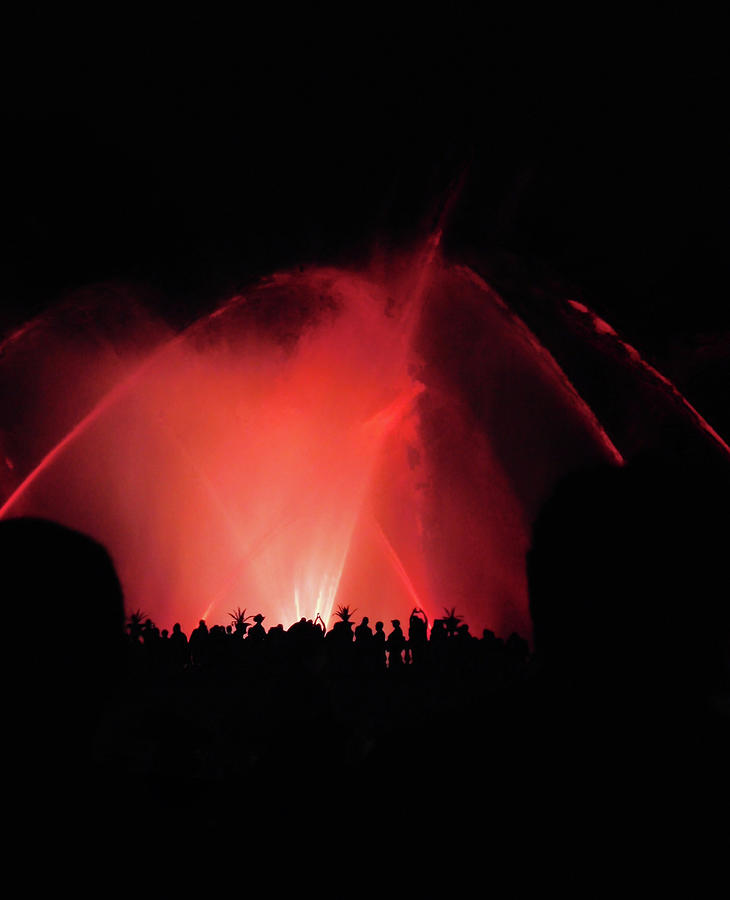 Night Fountain Show At Longwood Gardens1 Photograph