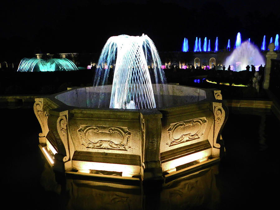 Night Fountain Show At Longwood Gardens4 Photograph