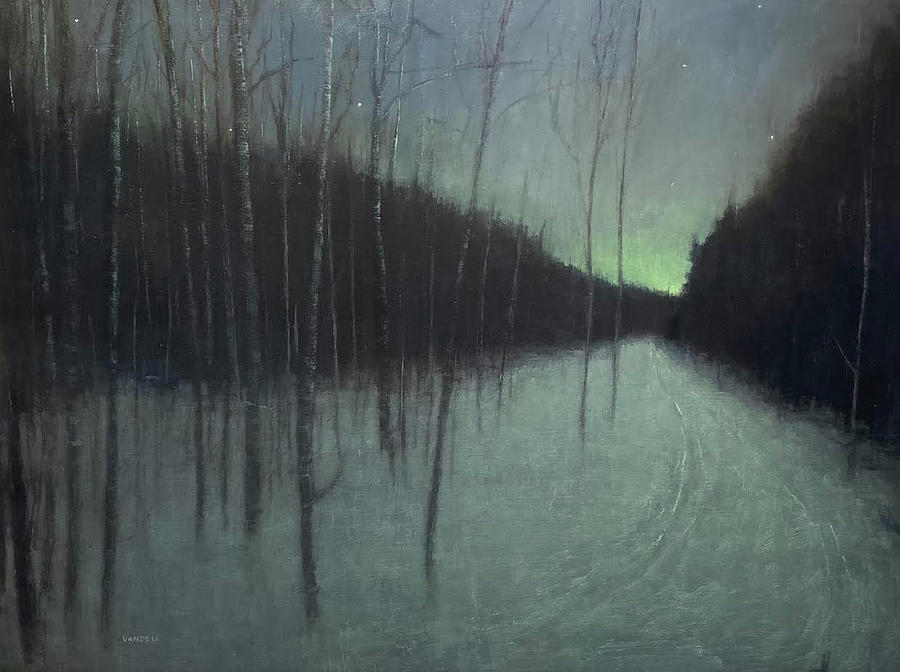 Night Luster Painting by Mary Jo Van Dell