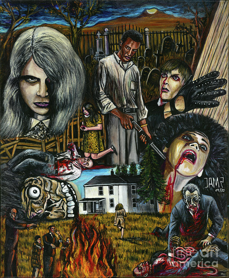Night Of The Living Dead Painting - Night of the living dead by Jose Mendez